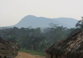 Nkomo mountain which supports gorillas, taken from Rama village (© Stuart Nixon)