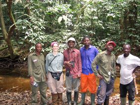 The Afi River Forest Reserve survey team