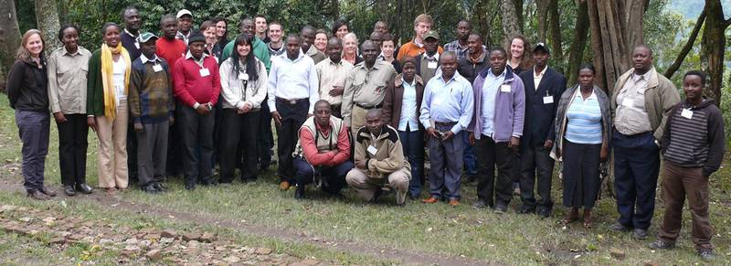 The participants of the gorilla conservation workshop