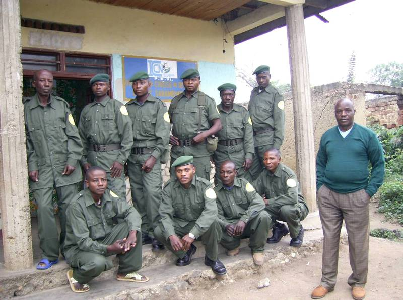 Uniforms for the Virunga National Park and the Sarambwe Reserve (© Claude Sikubwabo)