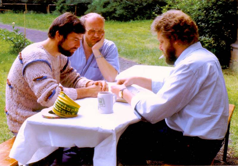 A meeting of the board of directors in 1984: Manfred Hartwig, Rolf Brunner and Paul-Hermann Bürgel.